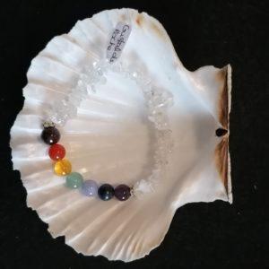 bracelet 7 chakras cristal de roche-agapanthe