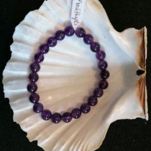 bracelet amethyste -agapanthe 8mm