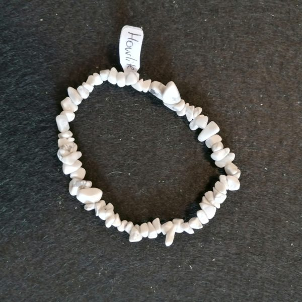 bracelet baroq howlite 6mm-agapanthe