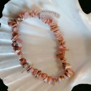 bracelet baroq rhodocrosite 6mm-agapanthe