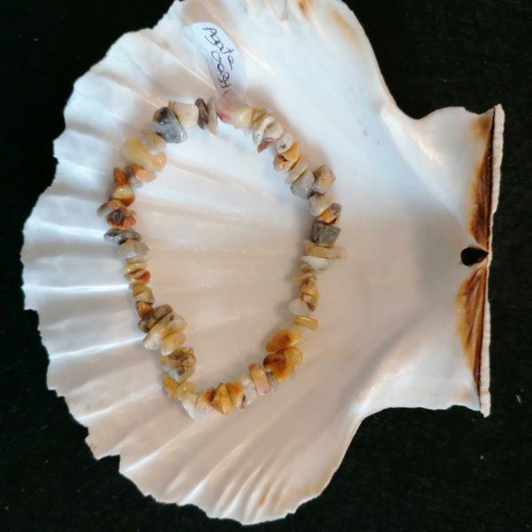 bracelet baroque agate crazy 6mm-agapanthe