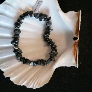 bracelet baroque hématite 6mm-agapanthe