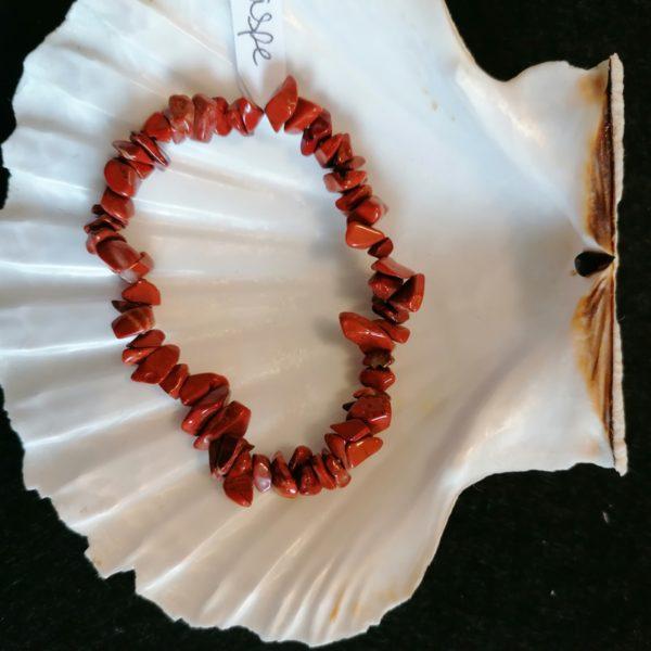 bracelet baroque jaspe-agapanthe