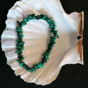 bracelet baroque malachite 6mm-agapanthe