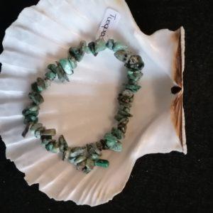 bracelet baroque turquoise 6mm-agapanthe