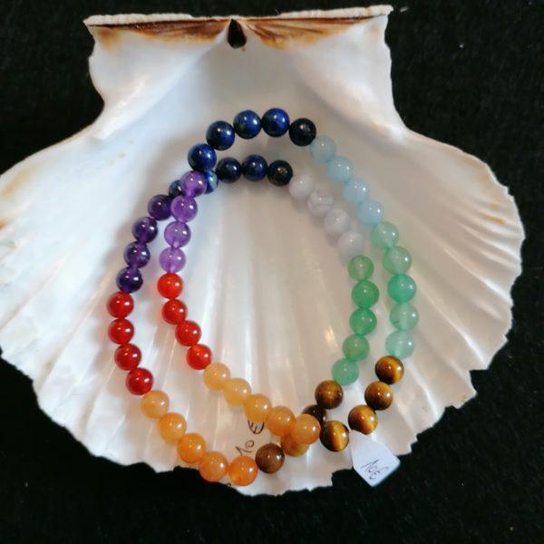 bracelet chakras-agapanthe 6mm