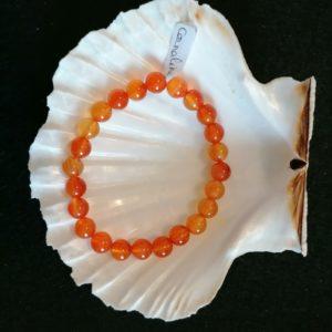 bracelet cornaline-agapanthe 6mm