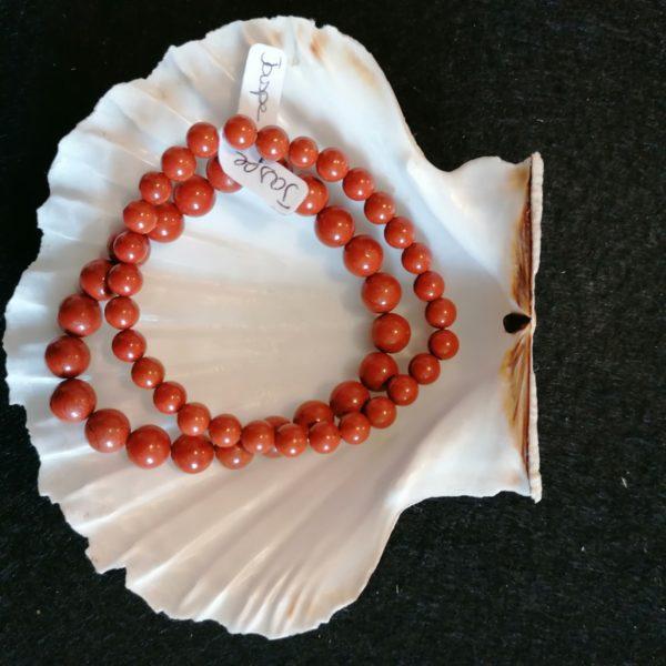 bracelet jaspe 6mm -agapanthe