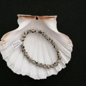 Bracelet Jaspe Dalmatien - 6mm
