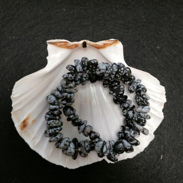 bracelets obsidienne neige