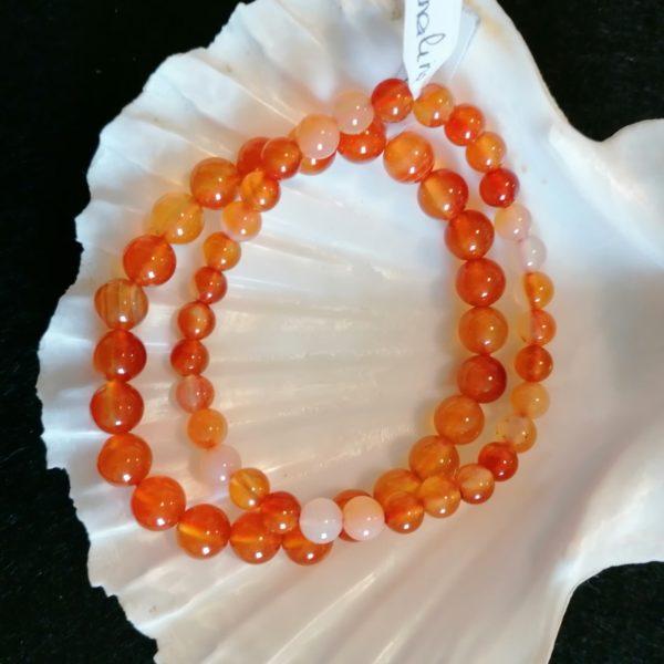 bracelets cornaline-agapanthe
