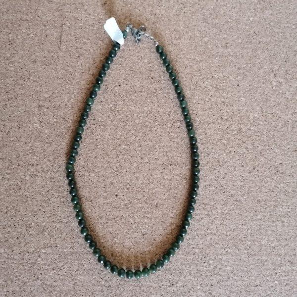 Collier Jade vert - 6 mm