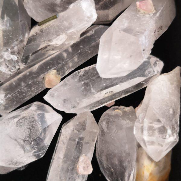 pointes de cristal de roche