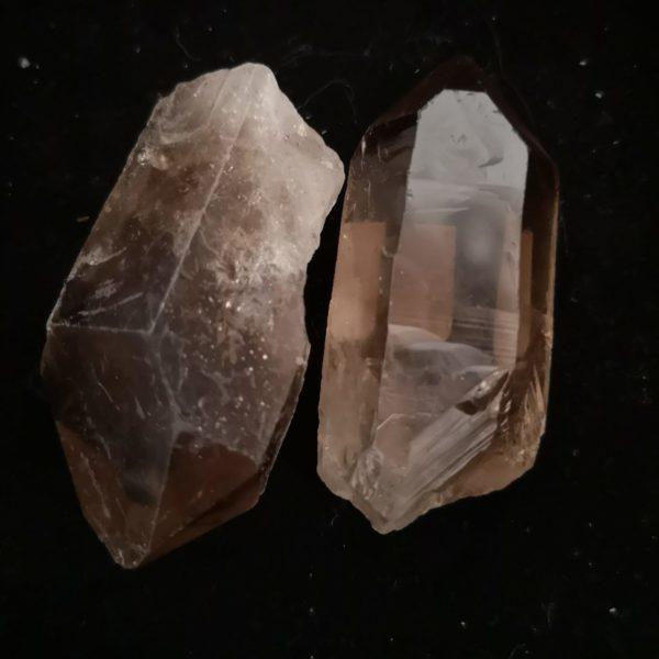quartz fumé pointe brute