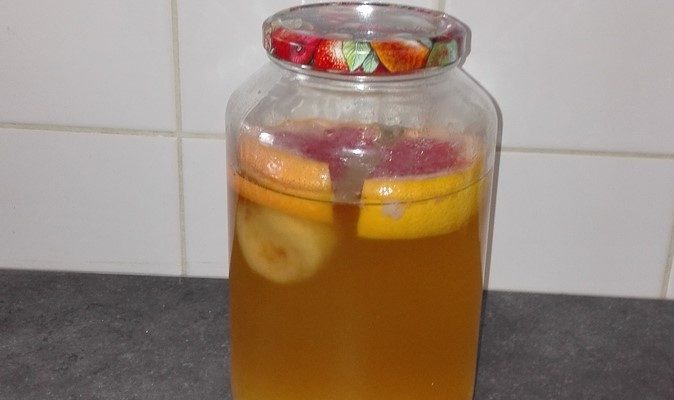 kefir de fruits prêt à filtrer
