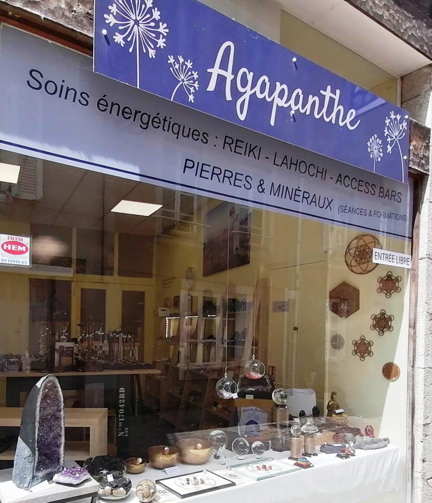 magasin agapanthe mineraux